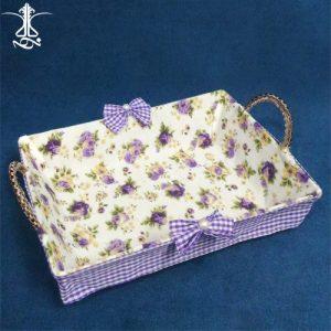 سبد نان و سبزی پارچه ای گلدار