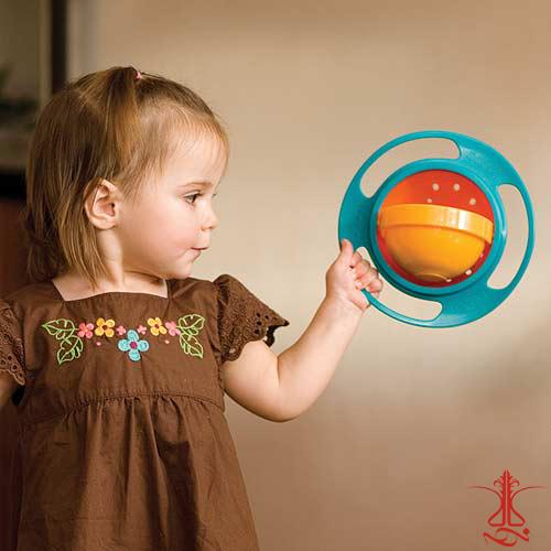 ظرف غذای چرخشی کودک جایروبال