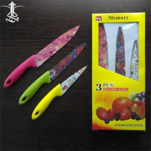 ست چاقوی گلدار 3 تکه