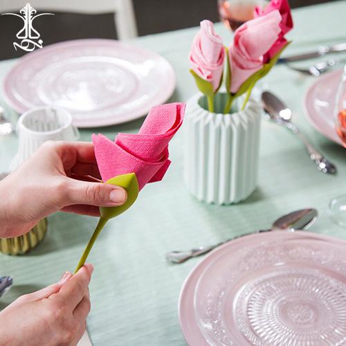 دستمال پیچ طرح گل رز