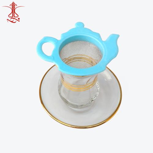 صافی چای طرح قوری آبی رنگ