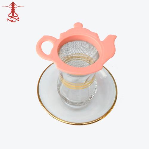 صافی چای طرح قوری گلبهی رنگ
