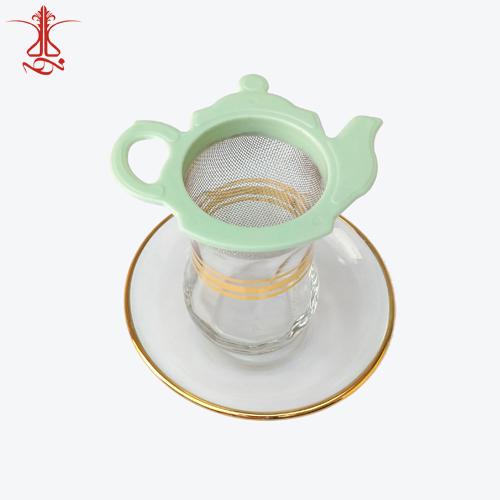 صافی چای طرح قوری سبز رنگ