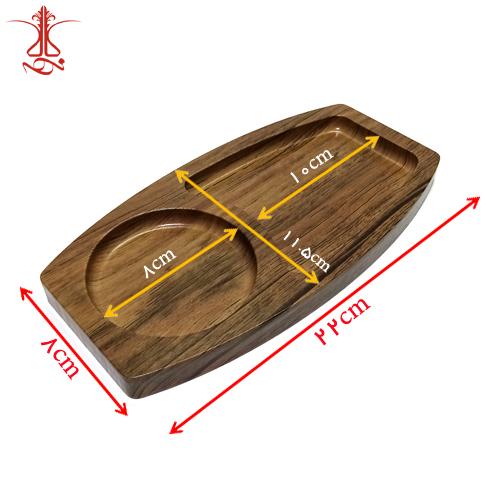 سینی چوبی پذیرایی دو تکه