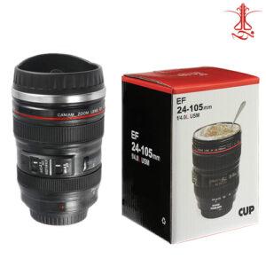 لیوان طرح لنز دوربین عکاسی